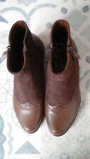 Brown Flat Boots size 4 BNWOT