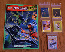 Lego ninjago™ Sticker Empty Album + All 222 Collecting Stickers Complete Set