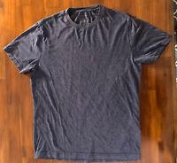 Banana Republic Men's Short Sleeve Crew Neck Premium-Wash Tee T-Shirt S Navy Hea