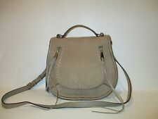 REBECCA MINKOFF Vanity Sandstone Suede Saddle Bag Shoulder Crossbody    NEW