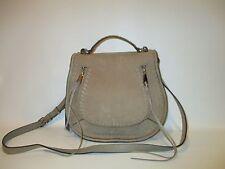 REBECCA MINKOFF Vanity Sandstone Suede Saddle Bag Shoulder Crossbody    NEW