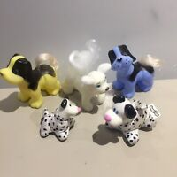 Vintage 90s Bluebird Collectable Huggy Pups pocket pets & 3 other dogs CUTE 🐶