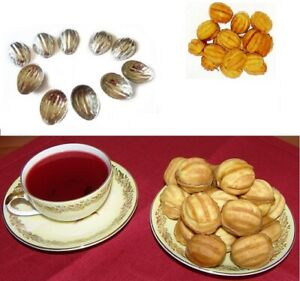 Set 30pcs Metal Molds Forms For Sweet Russian Oreshki Pastry Cookie Nutlets