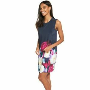 Ted Baker Mairei Floral Navy Blushing Bouquet Layer Dress UK 10 12 14 16 RP £190