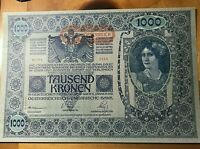 1902 AUSTRIA 1000 KRONEN NOTE SCARCE THIS NICE