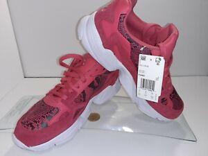Adidas Originals Women's 9.5 Falcon W Sneakers Craft Pink Snakeskin Print FV4481