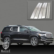NEW 2017-2018 GMC ACADIA CHROME STAINLESS STEEL PILLAR POST MARQUEE SIDE