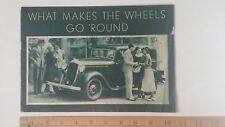 1933 PLYMOUTH - What Makes it Go?  - Original Green Color Sales Catalog Brochure