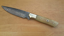 damastmesser JAGDmesser,Damascus steel blade fixed blade ,hunting knife (#62)