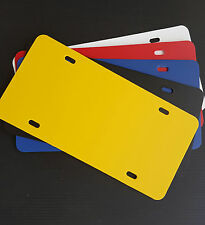 """5 Pack Blank PLASTIC LICENSE PLATE 6""""H X 12""""W  .050 CREATE YOUR OWN DESIGNS"""