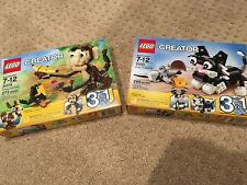 LEGO Creator Forest Animals 31019 and Furry Creatures 31021 - Brand New