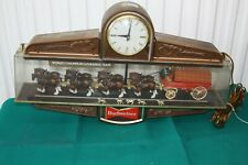 Anheuser Busch Budweiser Clydesdale Team Parade Clock Sign Light