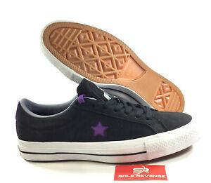 New CONVERSE 1 STAR PRO OX DINOSAUR JR Black Purple 158660C
