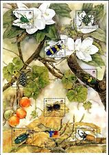 LAOS STAMP INSECTS PHILAKOREA 2002 WORLD STAMP EXHIBITION S/S PERF.