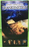 MARY SHELLEY'S FRANKENSTEIN VHS 1994 Robert De Niro Kenneth Branagh Aidan Quinn
