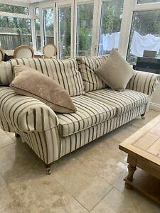 2 Laura Ashley mortimer sofas suite in stripe