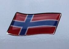 45mm WAVING NORWAY FLAG Sticker/Decal - WITH A HIGH GLOSS DOMED GEL FINISH