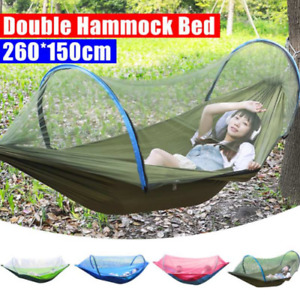 2Person Portable Outdoor Mosquito Net Parachute Hammock Camping Hanging Sleeping