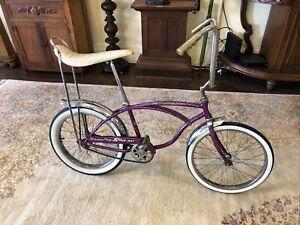 Vintage Schwinn Deluxe Stingray 1966 Original Violet Color Boys Bicycle