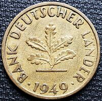1949-J Germany 10 Pfennig Coin ***Great Condition*** Large J Variety