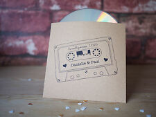 10x personalised mixtape style CD cover / sleeve wedding favour music