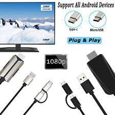 1080P HDMI Video Cable Phone to TV Converter Adapter Digital HDTV For Android/PC
