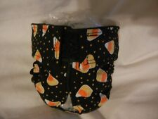 Female Dog Puppy Pet Diaper Washable Pants Sanitary Underwear CANDY CORN SM/MED