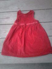 LL Bean Girls 12-18M Red Velvety Cotton Christmas Party Dress Jumper Hi Waist