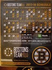 Boston Bruins 2017~2018 Schedule Sticker