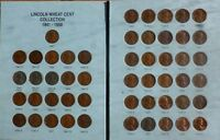 Complete No 2 Lincoln Wheat  Collection 1941 to 1958 PDS 51 coins Without Folder