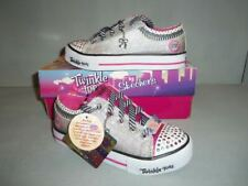 Girl's Skechers S Lights Shuffles Charmingly Chic Sneakers Shoes Nib New Sizes