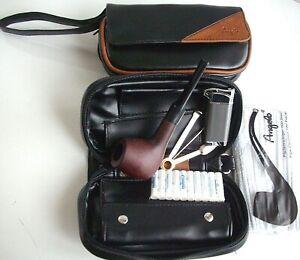 Pfeifentasche Angelo für 2 Pfeifen SET mit Reiniger Filter-Pfeife und mehr NEU!