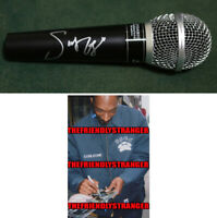 Rapper SNOOP DOGG signed Autographed MICROPHONE - PROOF - Gin & Juice COA