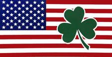 Wholesale Lot of 6 Ireland Irish Shamrock USA American Decal Bumper Sticker