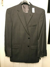 MENS JOS A BANK 46R SOLID CHARCOAL GREY SIGNATURE 2PC COAT PANT SUIT NEW W/TAGS