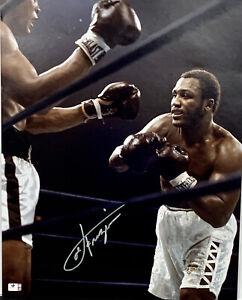 Smokin' Joe Frazier Boxing Signed 16x20 Photo Autographed Auto COA Muhammad Ali