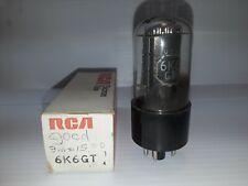 6K6 Tubes, NOS, RCA, 6000A Tested