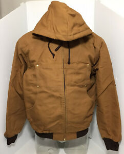Hooded Jacket Bomber Brown TOUGH DUCK Size M
