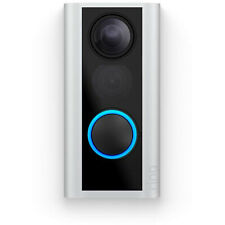 Ring Door View Cam Battery Powered Video Doorbell Alexa Compatible, Satin Nickel