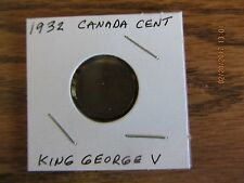 1932 Canada Small Cent  King George V