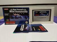 NIGEL MANSELL'S WORLD CHAMPIONSHIP - SNES Super Nintendo Game CIB PAL UKV
