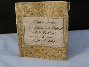 ANTIQUE KIDDERMINSTER GRAMMAR SCHOOL BANK CHEQUE STUB RECEIPTS BOOK DATED 1861