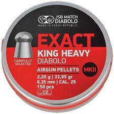 JSB EXACT KING HEAVY MK II 6.35 mm .25 cal. 150 pcs. 2.20 g Airgun pellets