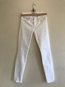 Jcrew Toothpick White  Jeans Size 25