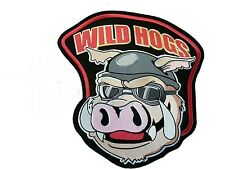 "WILD HOGS Biker Club MC Anarchy PATCH  4x4"" 10x10cm Iron on sew on backing"