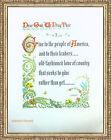 """VTG Peter Marshall Prayer for America Calligraphy Lithograph 17x13"""" Karl Smith"""