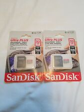 2x || SanDisk Ultra Plus 32GB Micro SD Card Class 10 || 2 Pack