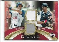 2005 Upper Deck MLB Artifacts Travis Hafner Victor Martinez Dual GU Jersey Relic