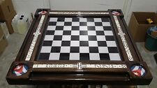 Beautiful Cuban Theme Chess or Checkerboard Game Table by Domino Tables by Art