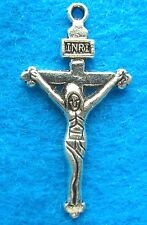 Pendant Charms Jesus On the Cross Charm Antique Silver Charm Religious Charm